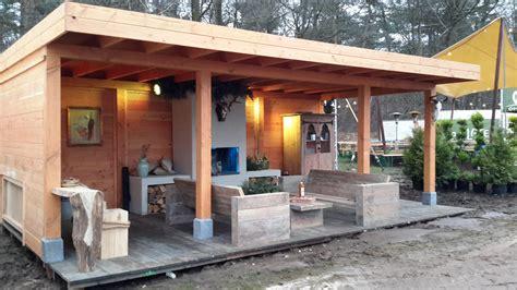 veranda zelfbouw douglas veranda 700x400cm incl overstek 100cm stange