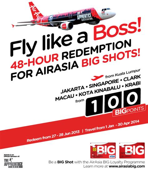 airasia redemption 48 hour redemption exclusive for airasia big shots