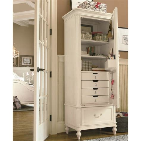 Gabriella Armoire by Smartstuff Gabriella Wood Armoire In Lace 136a014