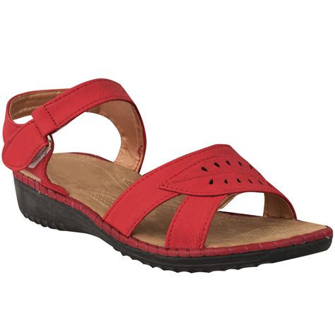 comfort sandals ladies womens comfort wide casual walking flat summer