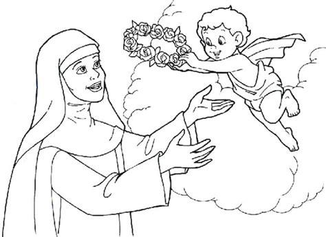 imagenes para colorear a santa rosa de lima para colorear santa rosa de lima