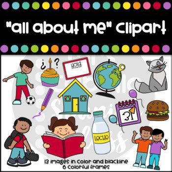 all about me clipart all about me clipart set by mrs cabello class tpt