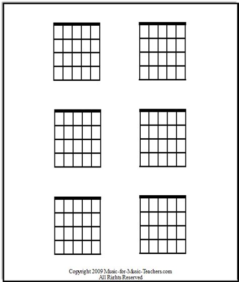 printable blank ukulele chord chart free guitar chord chart blanks to fill in your own chords
