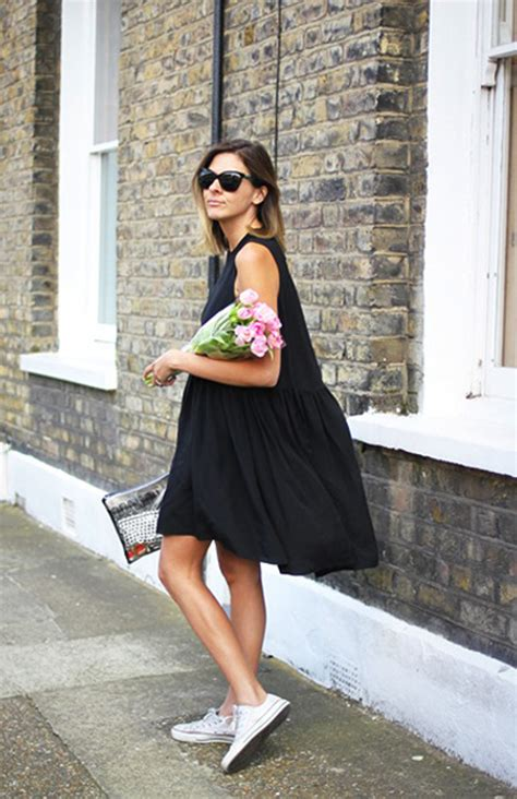 dress sneakers for how to wear sneakers with dresses 2018