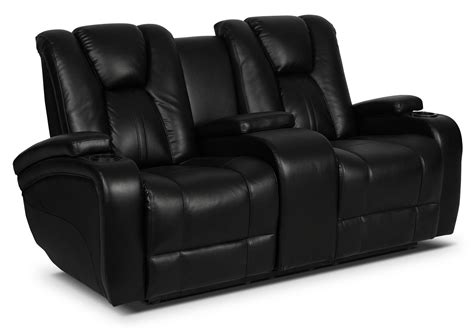 bonded leather recliner sofa zander bonded leather power reclining loveseat black