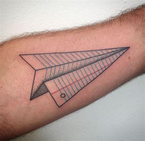 tattoo de plane paper airplane tattoos piercings to get