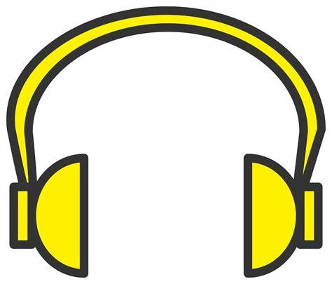 headphone clipart clipart yellow headphone