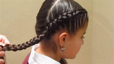 como hacer peinados de trenzas para ninas peinados para ni 209 as paso a paso trenza colegial moderna