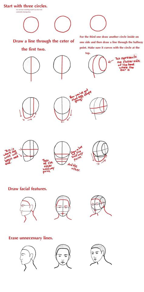 Drawing 3 4 Faces by How To Draw A Front Side And 3 4 View By
