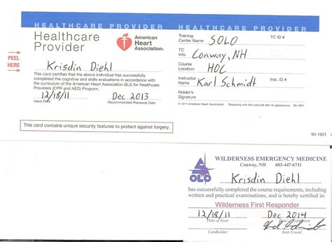 american association heartsaver cpr card template 26 images of aha card template linkcabin
