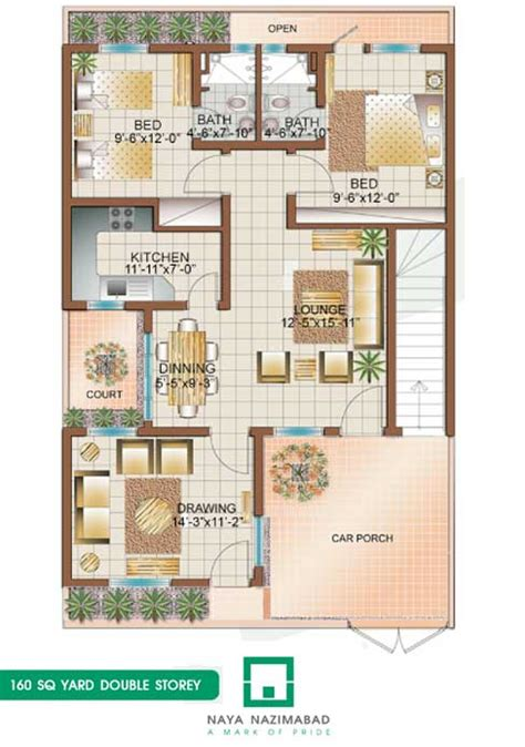 160 yard home design bungalow 160 sq yards double story ground floor pictures
