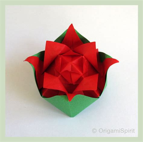 Rosa Origami - origami origami easy to make