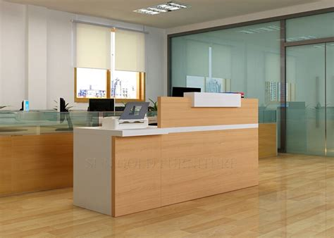 half reception desk modern wood half glass top reception desk sz rt007