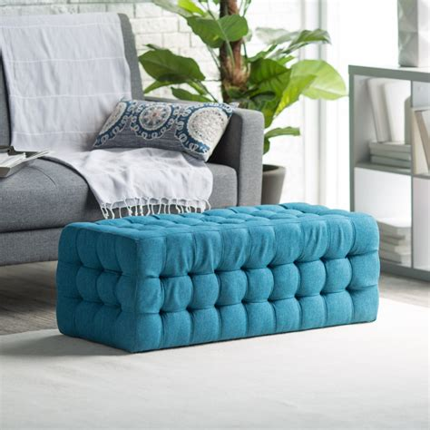 Blue Ottoman Coffee Table by Blue Tufted Ottoman Coffee Table Home Design