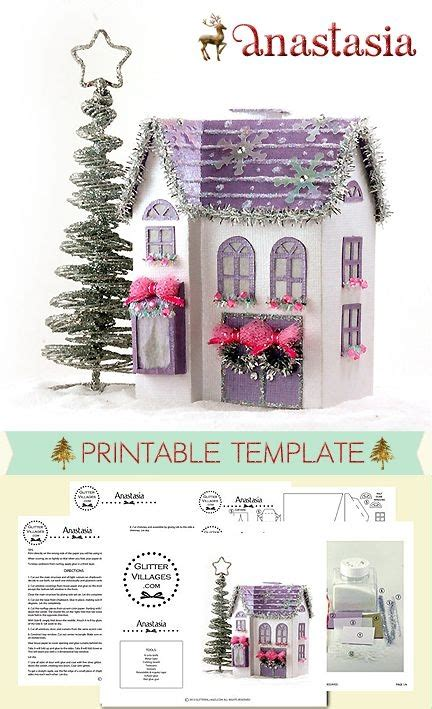 printable christmas village diy printable christmas village house pattern make it out
