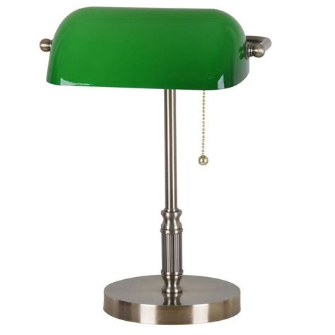 green glass shade bankers l hton bay 15 in antique brass bankers l with green