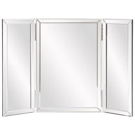 hinged bathroom mirrors mirror hinged tri fold beveled edges clear glass vanity table top cubbie makeup ebay