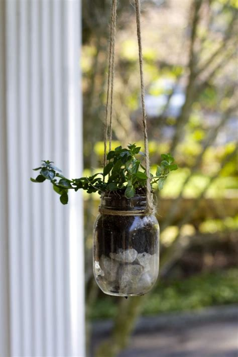 Hanging Jar Planter by 30 Amazing Diy Planters You Can Make Out Of Stuff