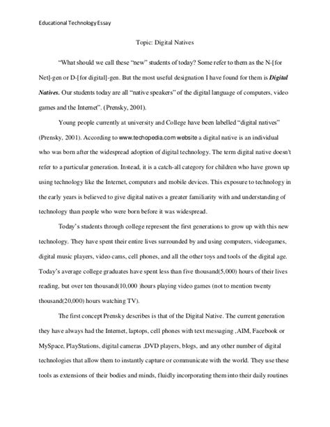 Advancement Of Technology Essay by Educational Technology Essay