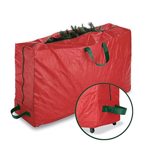paksh whitmor red christmas tree storage bag and