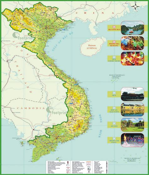 printable vietnam road map vietnam carte et image satellite