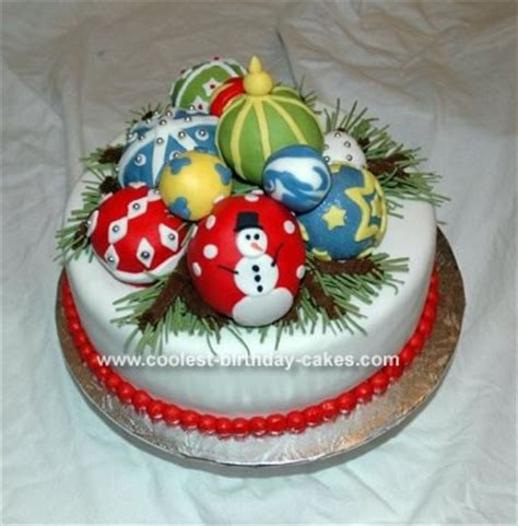 coolest christmas ornaments cake