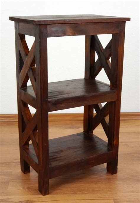 unique bedside table unique rustic bedside table handmade bali furniture indonesia small shelf brown ebay