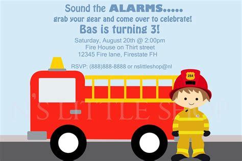 Firefighter Birthday Invitation With Car Zen S 4th Birthday Pinterest Birthday Party And Firefighter Invitation Templates
