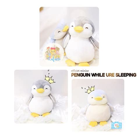 Boneka Miniso boneka miniso official penguin while u re sleeping