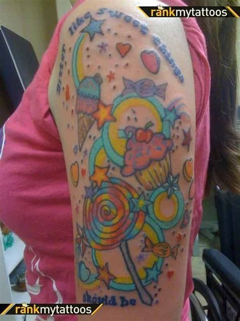 candy sleeve tattoo tattoos pinterest sleeve tattoos