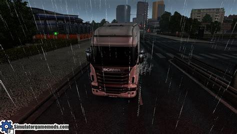 euro truck simulator 2 snow mods simulation game modes ets 2 weather snow mod simulator games mods download