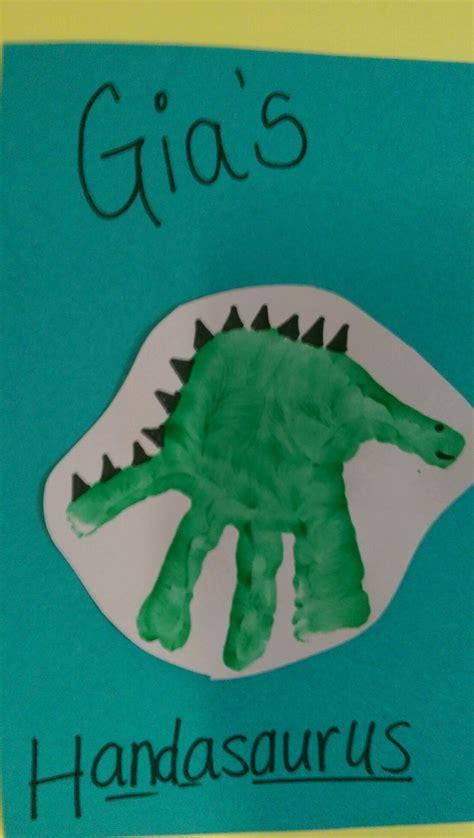 dinosaur craft projects dinosaur handprint arts crafts idea for children