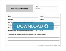 open house guest registration form template real estate open house sign in sheet free template