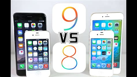 ios 9 vs ios 8 on iphone 6 5s 5 4s which is faster