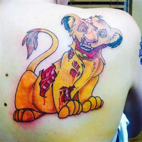 wild idea tattoo simba back on tattoochief