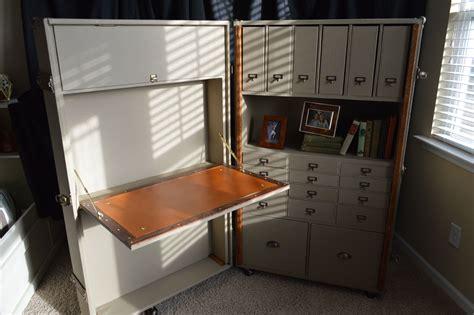custom  steamer trunk desk secretary  woodbuckle