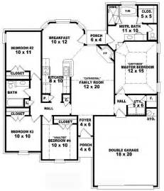 4 Bedroom 4 Bath House Plans by One Story 4 Bedroom 2 Bath Traditional Style House Plan