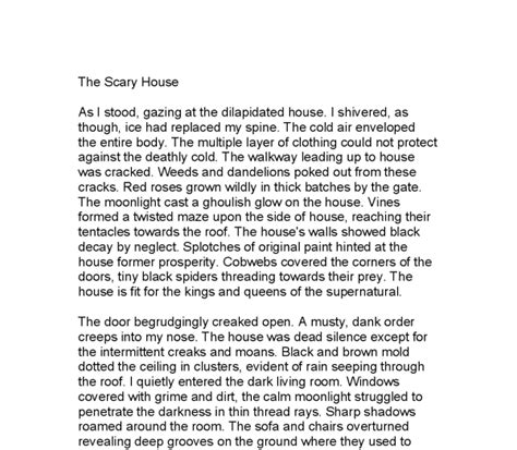 A House Essay by A Haunted House Essay Writing 187 Master Thesis In Energy Management
