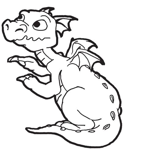 coloring pages of a new born baby dragon for kids
