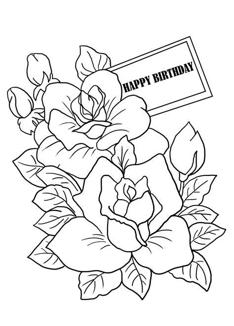 coloring sheets for birthday coloring pages