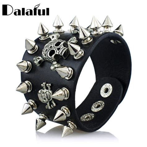 biker leather jewelry google search ᗔunique rock spikes rivet ξ gothic gothic skeleton skull