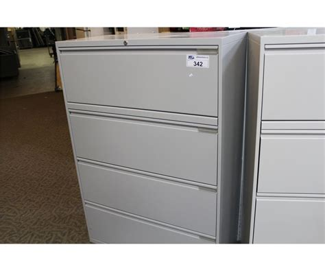 steelcase beige 4 drawer lateral file cabinet able auctions