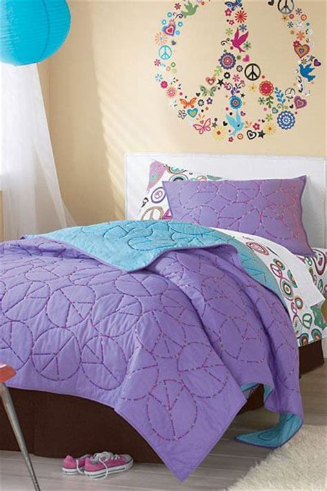 peace sign bedroom girls rooms peace sign embroidered quilt girls