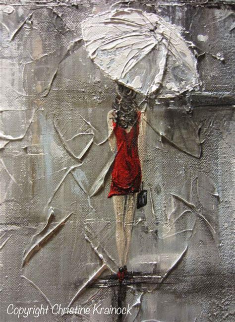 Kaos Umbrella Boy Grey 1 original abstract painting umbrella white dress grey contemporary by