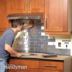 How To Kitchen Backsplash 24 low cost diy kitchen backsplash ideas and tutorials