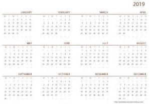 Calendar 2019 Printable Free Printable Calendar 2019 Printable 2017 Calendar