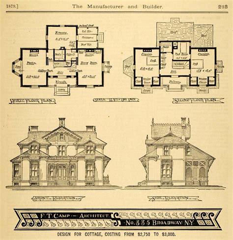 1879 print victorian house architectural design floor 1879 print cottage architectural design floor plans