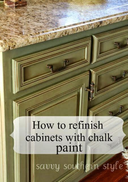How To Refinish Kitchen Cabinets Yourself Best 25 Chalk Paint Cabinets Ideas On Pinterest Chalk Paint Kitchen Cabinets Paint For