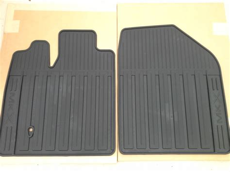 2007 2010 lincoln mkx front and rear all weather slush floor mats oem ebay