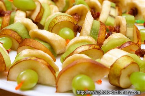 canapes dictionary fruit canapes photo picture definition at photo